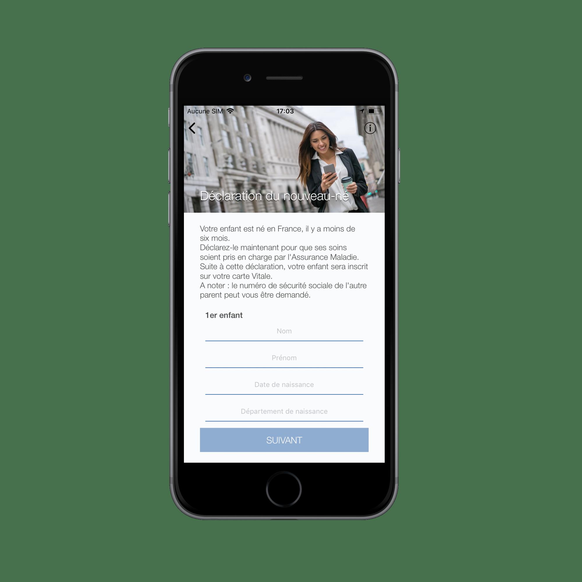 Carte Assurance Maladie Naissance.Aide Application Smartphone